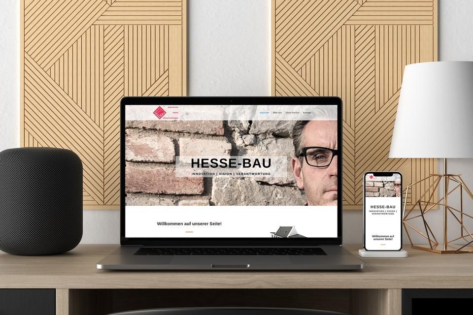 Webdesign Projekt Hessebau Webseite