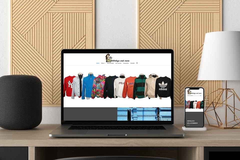 Webdesign Projekt she 90s vintage Webseite Onlineshop