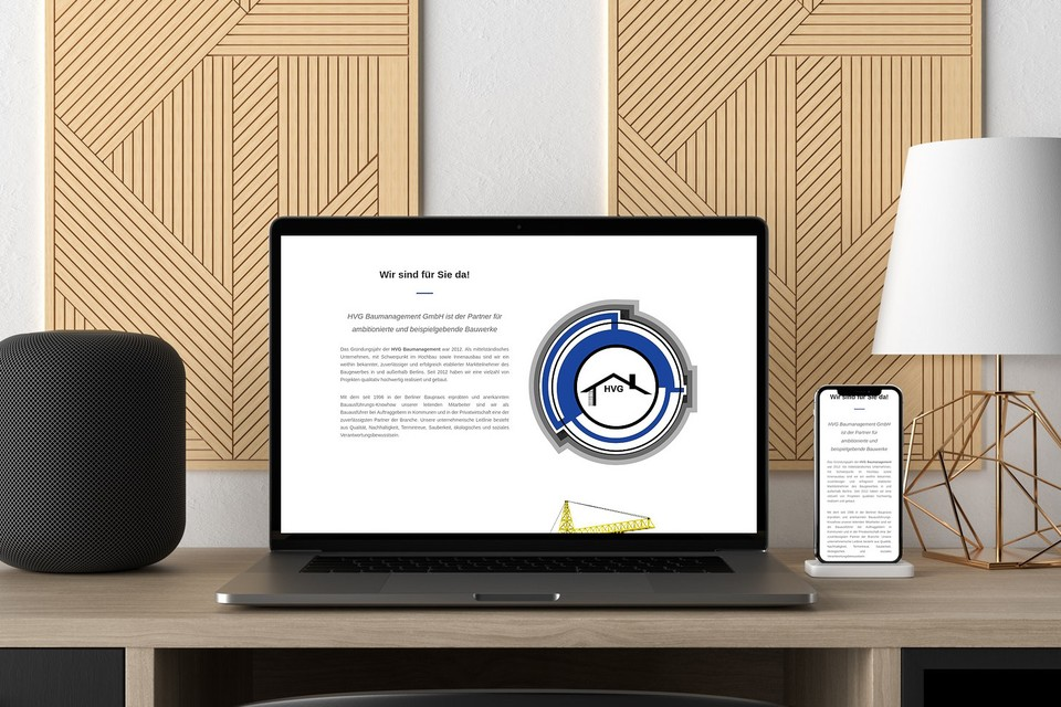 Webdesign HVG Berlin Bauunternehmen