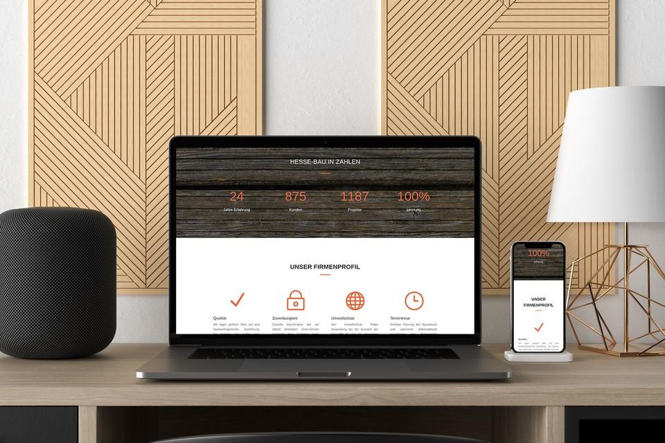 Webdesign Projekt Hessebau Website Wordpress Theme