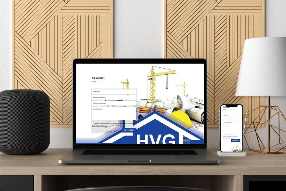 Webdesign HVG Berlin Wordpress Theme Bauunternehmen
