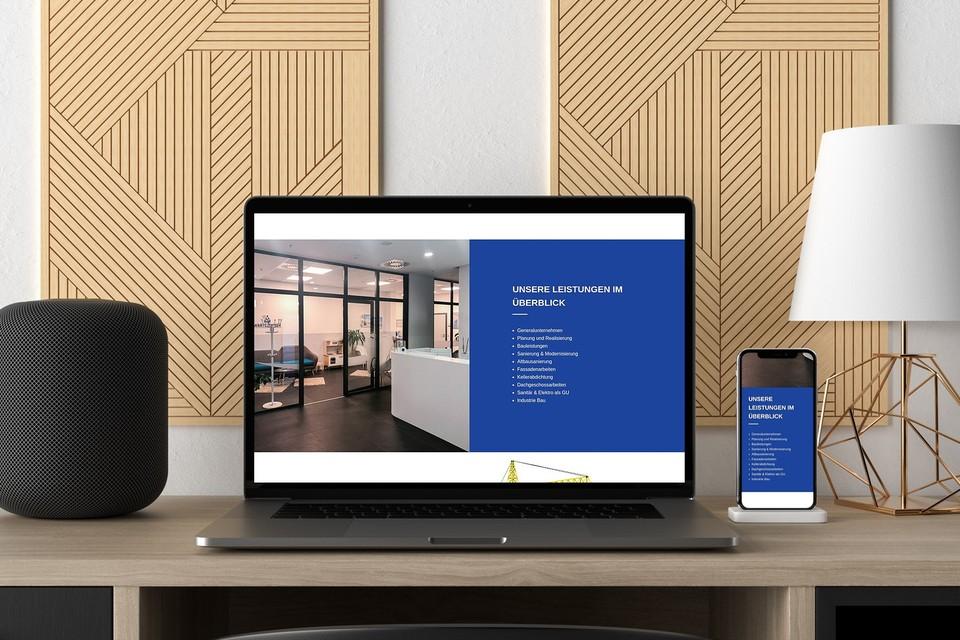 Webdesign HVG Berlin Homepage Bauunternehmen