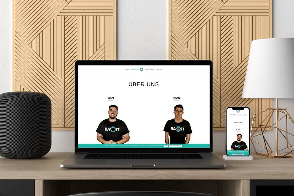 Rakkit Webdesign Startup Webseite Webdesigner