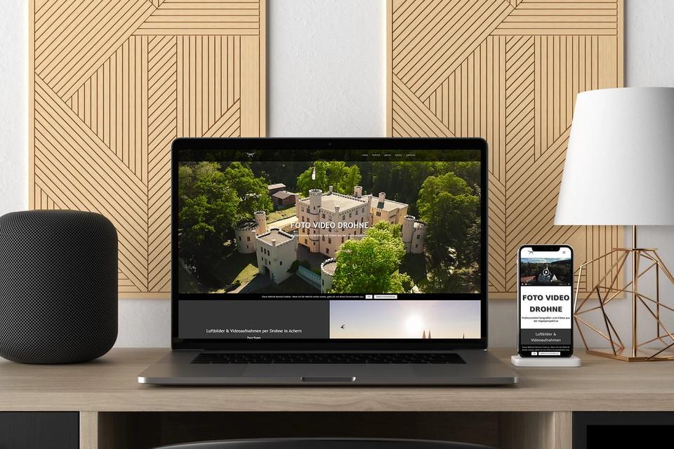 Webdesign Drohne Website