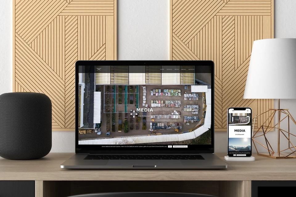 Webdesign Drohne Fotograf Website erstellen lassen