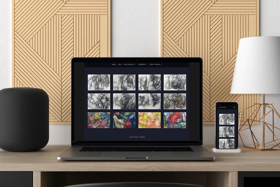 Website Künstler Maler Kunst Webdesign