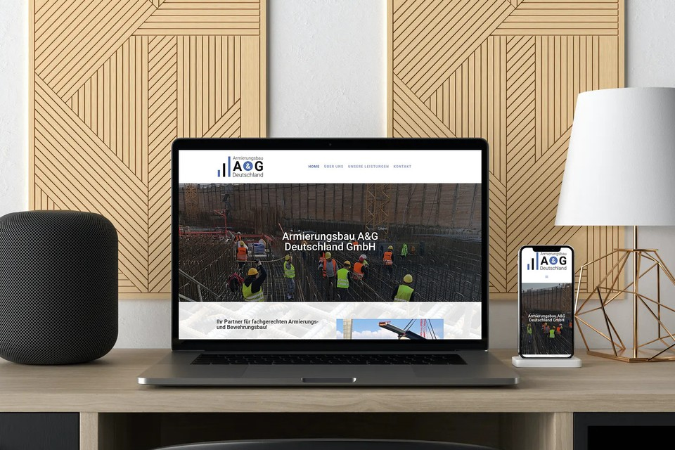 Webdesign Homepage erstellen für Bauunternehmen & Bauindustrie