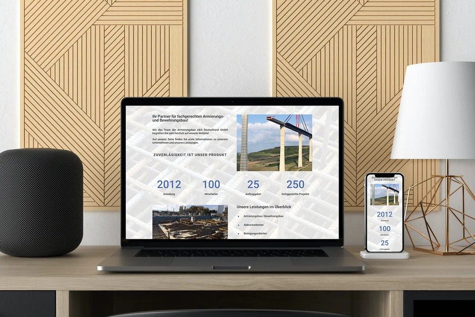 Webdesign Webseite erstellen für Bauunternehmen & Bauindustrie