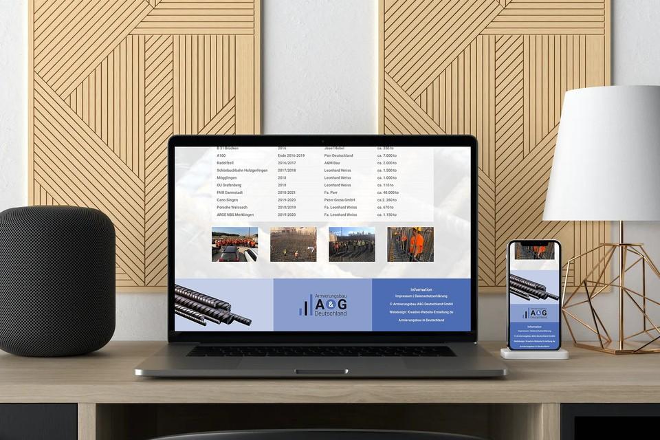 Webdesign Website erstellen für Bauunternehmen & Bauindustrie