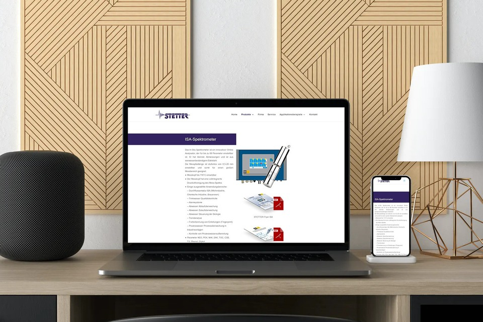 Webdesign Homepage Produktvorstellung