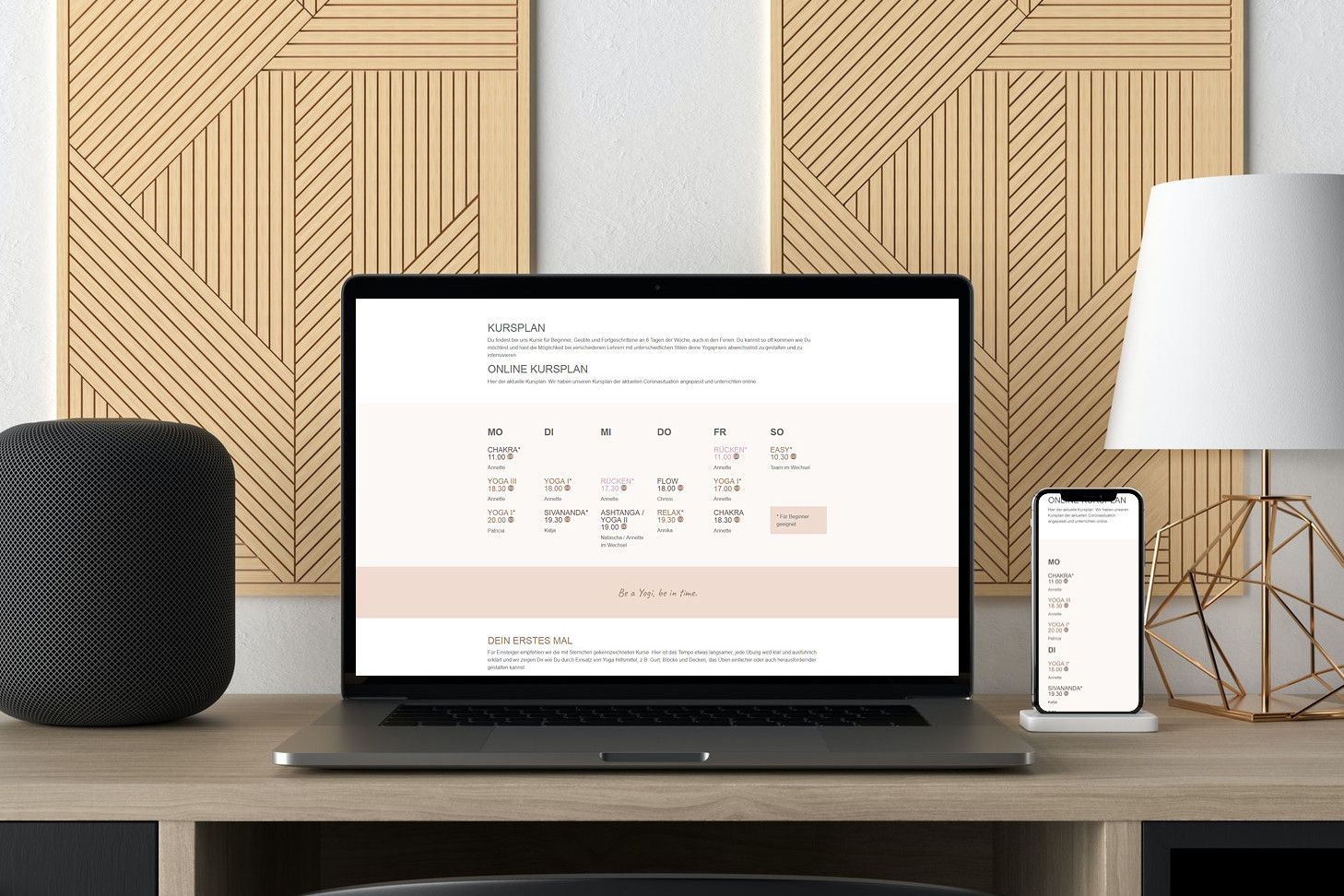 Webdesign Website Yogastudio