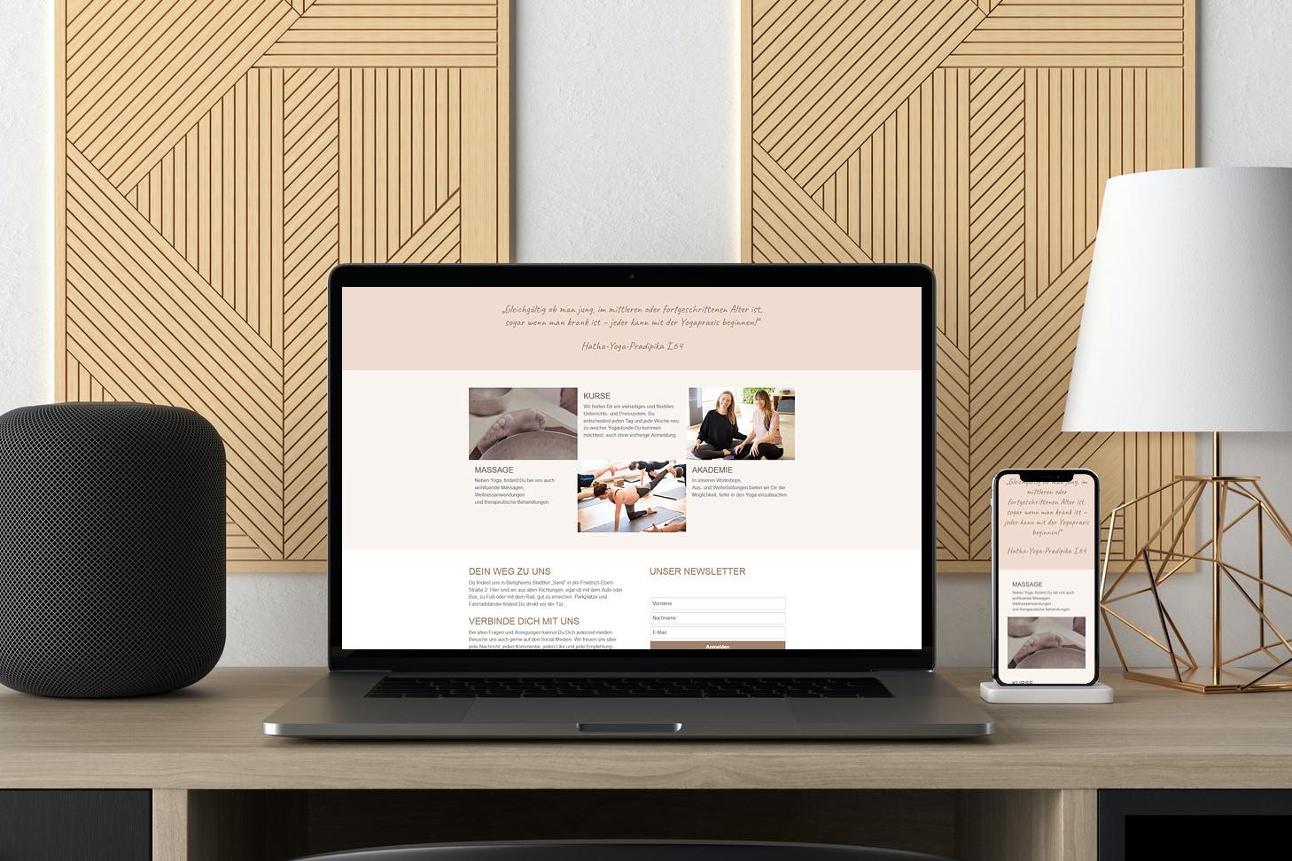 Webdesign Yoga Studio
