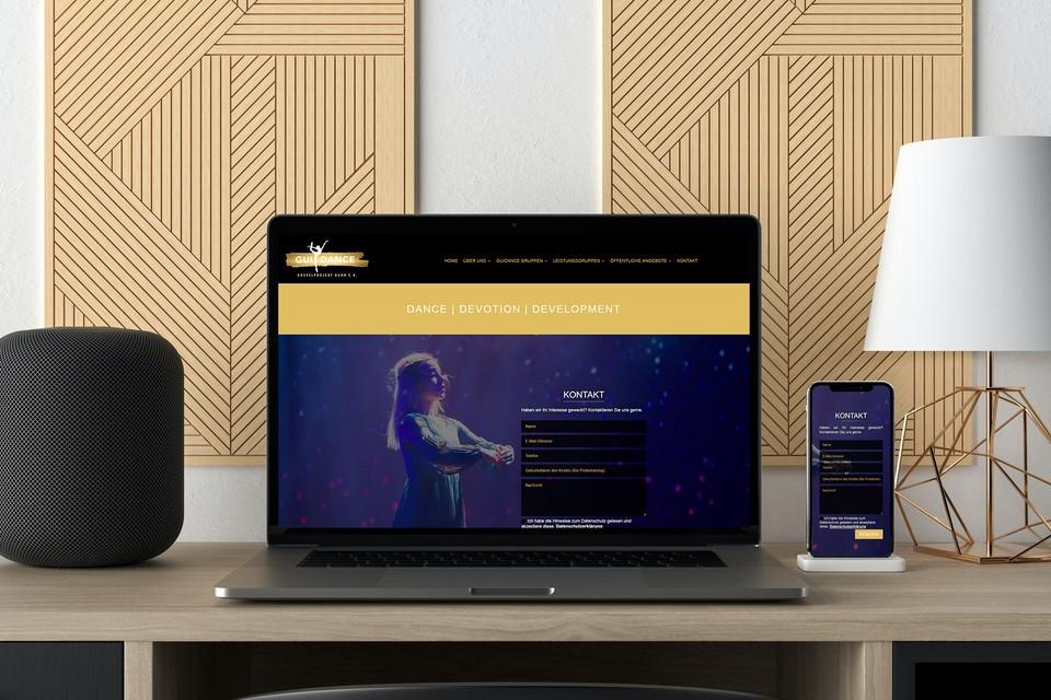 Webdesigner Tanzschule Website Gestaltung