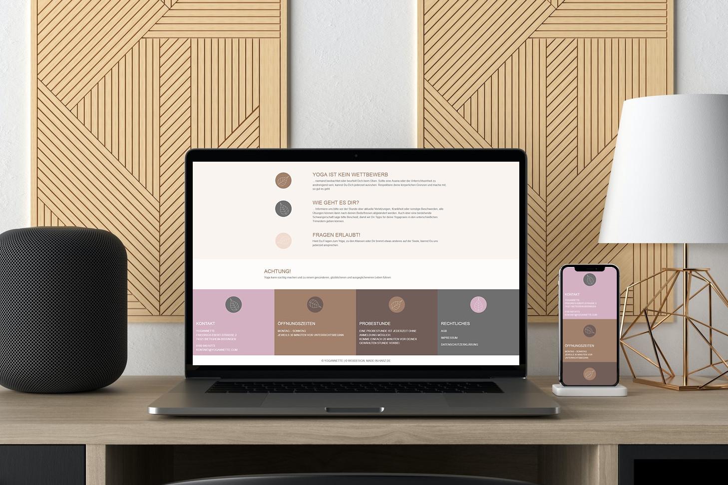Webdesigner Website Yogastudio